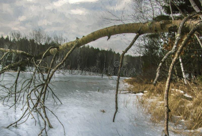 Trotzen der Kälte stockfotografie