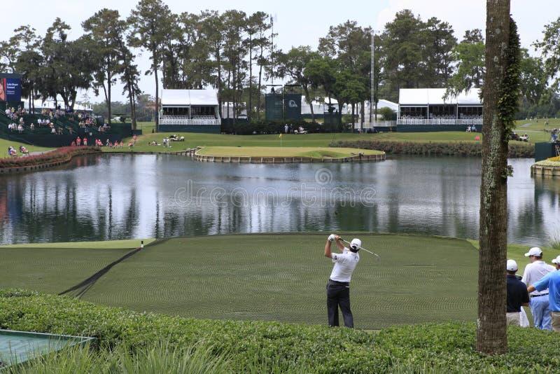 Trou 17, les joueurs, TPC Sawgrass, la Floride photos libres de droits