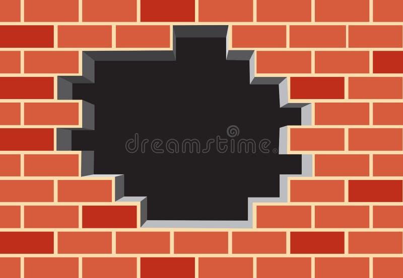 trou dans le mur de briques illustration de vecteur illustration du horizontal concret 4327737. Black Bedroom Furniture Sets. Home Design Ideas