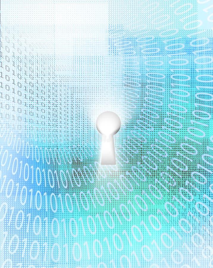 Trou de la serrure en code binaire illustration libre de droits