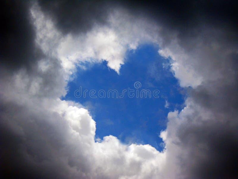 Trou de nuage image libre de droits