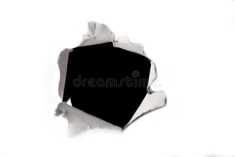 Trou de papier photo libre de droits