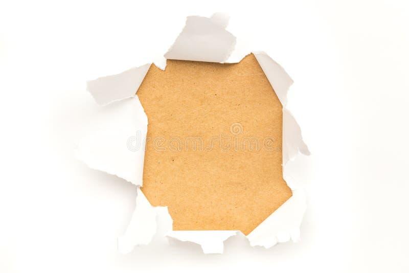 Trou de papier déchiré photo stock