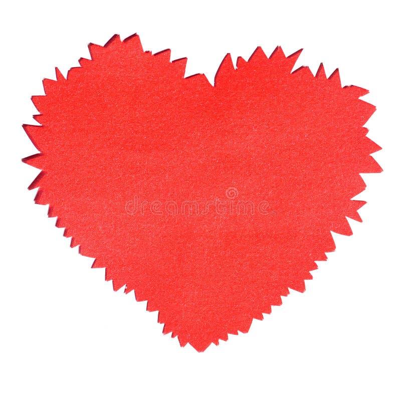 Trou de papier déchiré en forme de coeur images libres de droits