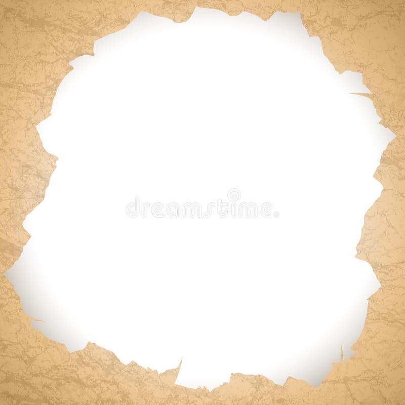 Trou de papier déchiré par cru illustration libre de droits