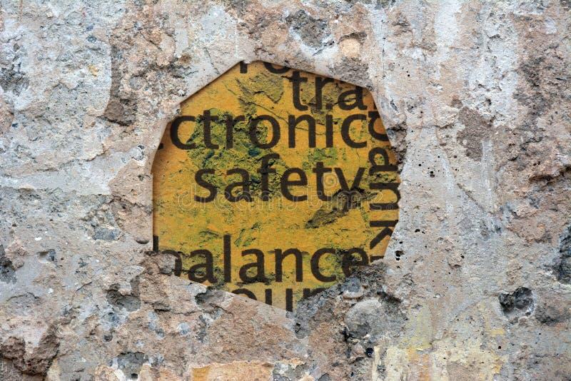 Trou de papier de sécurité illustration stock