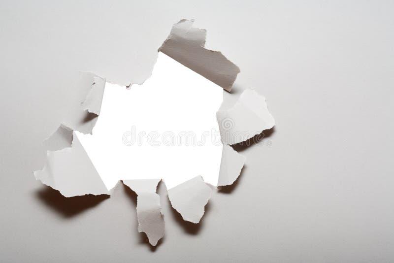 Trou en papier images libres de droits