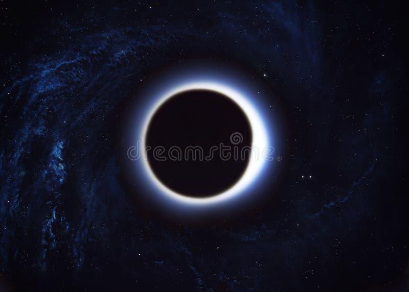 Trou noir dans l'espace images stock