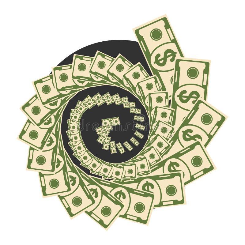 Trou noir de vortex d'argent illustration de vecteur