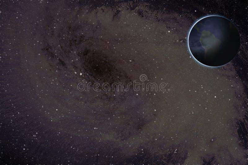 Trou noir et planètes illustration de vecteur
