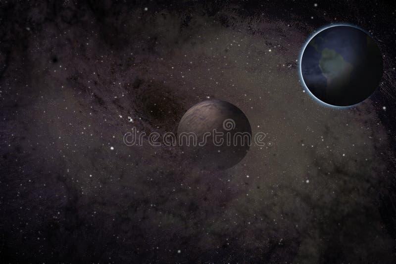 Trou noir et planètes illustration libre de droits