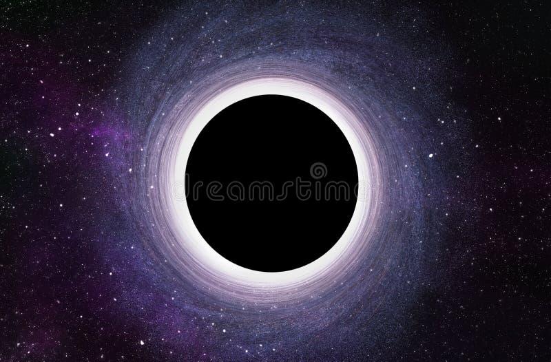 Trou noir massif au centre de la galaxie - 3D a rendu l'illustration de Digital illustration stock