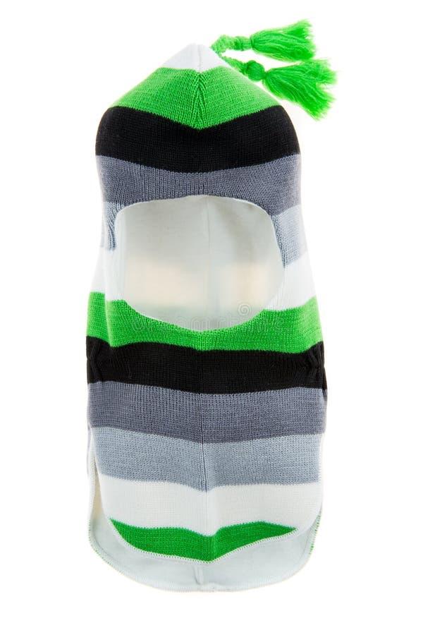 Trou Ski Mask du casque un de chapeau d'enfants photographie stock libre de droits