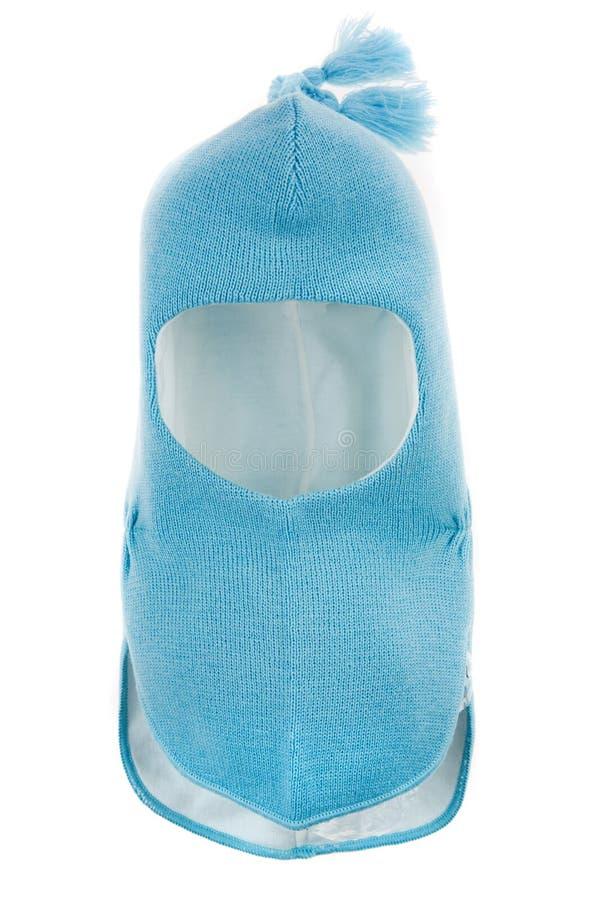 Trou Ski Mask du casque un de chapeau d'enfants images stock