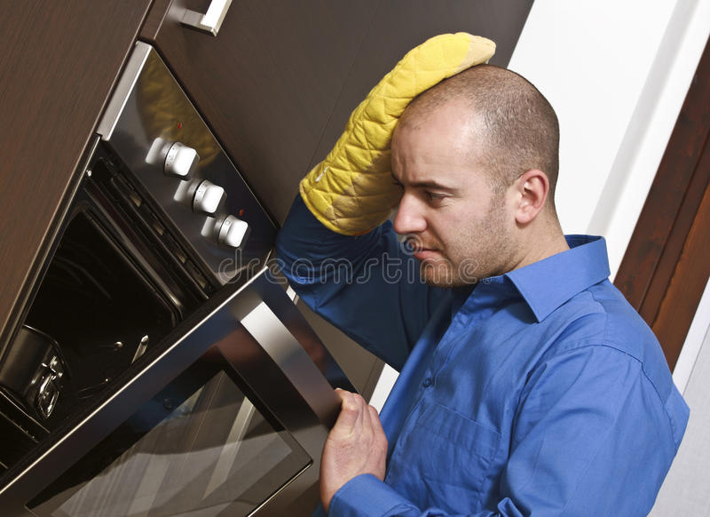 Troubble in the kitchen royalty free stock photography