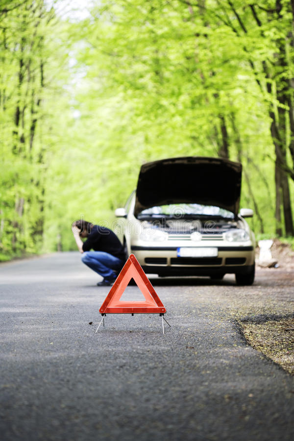 Download Trouble stock image. Image of road, triangle, broke, country - 24341595