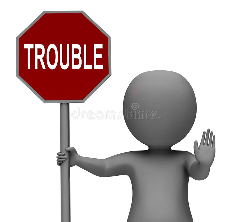 Free Trouble Stop Sign Means Stopping Annoying Problem Troublemaker Stock Image - 38161451
