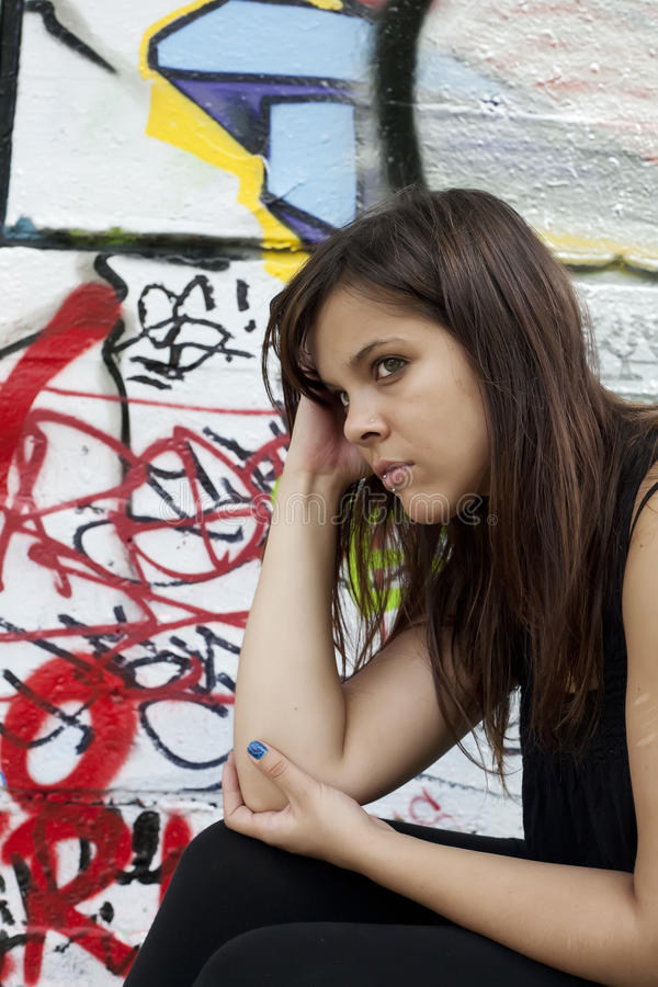 Troubled Girl royalty free stock image