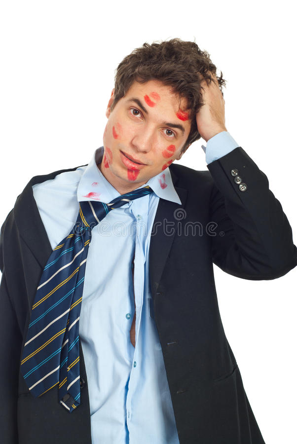 Download Troubled kissed man stock photo. Image of business, lips - 17787850