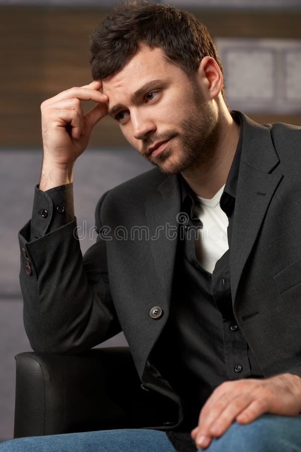 Troubled Office Worker Royalty Free Stock Photography