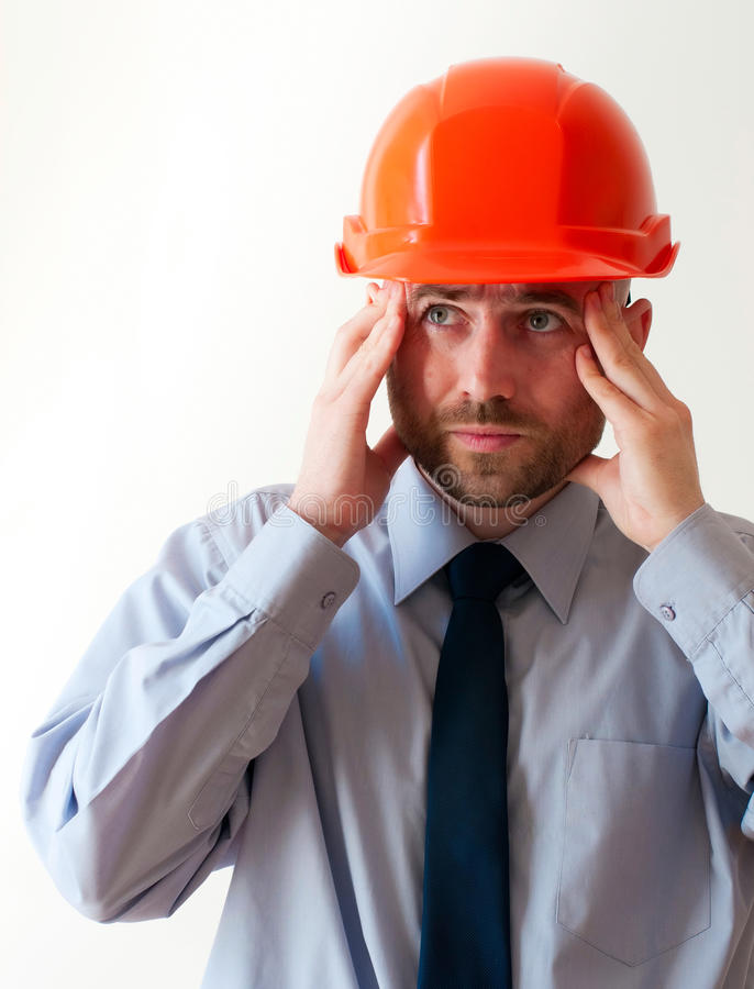 Troubled worker royalty free stock photos