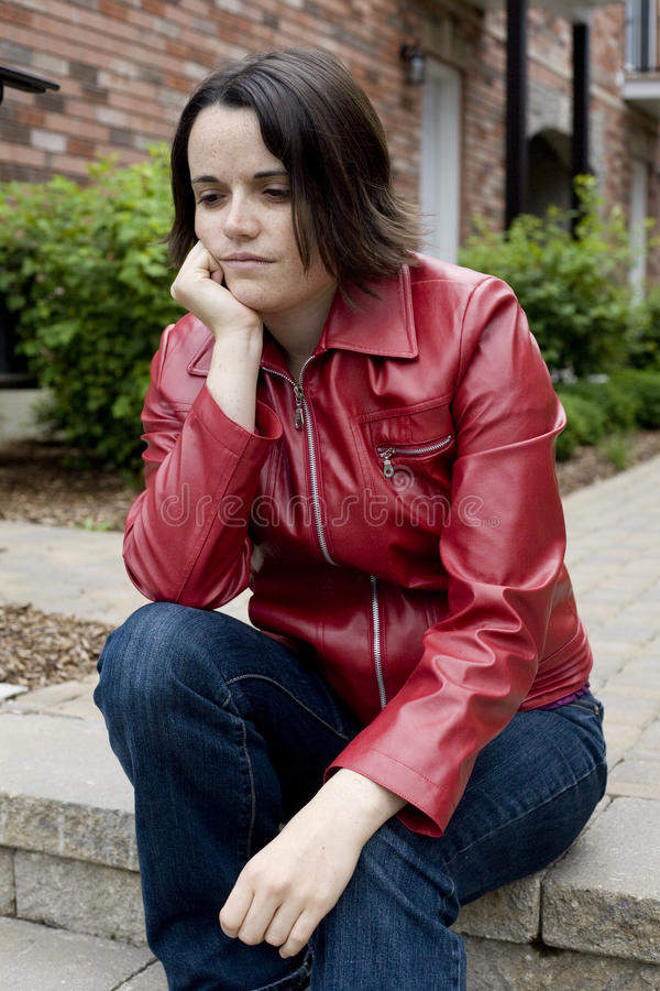 Troubled Young Woman Stock Image