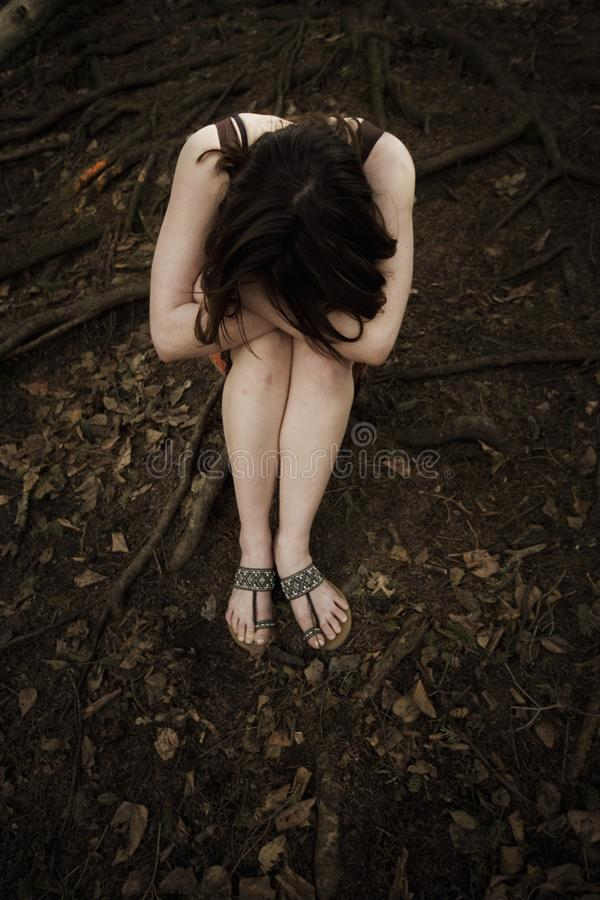 Download Troubled Young Woman stock image. Image of angle, grieving - 17064299