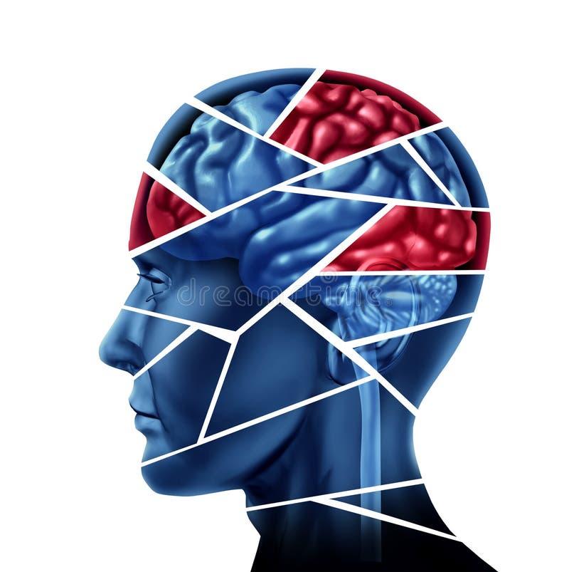 Troubles mentaux illustration de vecteur