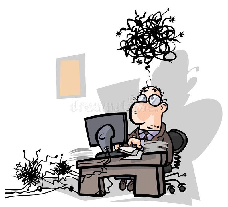 Troubles in the office. stock illustration