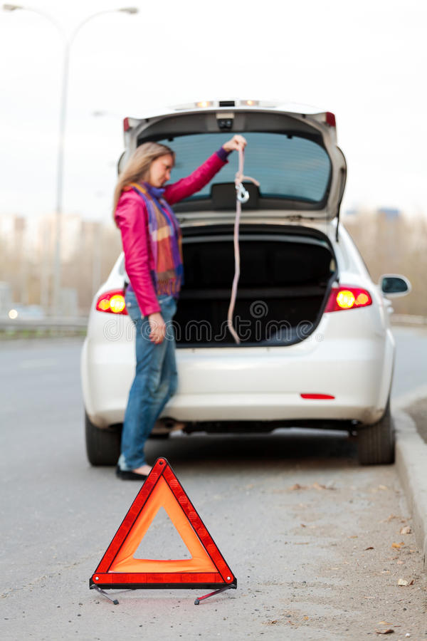 Download Troubles on the road stock image. Image of hook, girl - 16387001