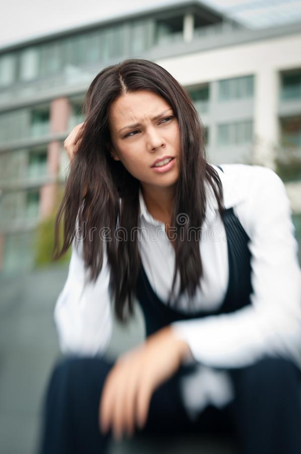 Download Troubles - Worried Business Woman Stock Image - Image: 16145547