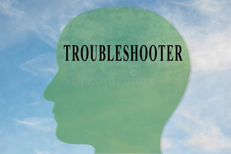 TROUBLESHOOTER - osobowości pojęcie royalty ilustracja