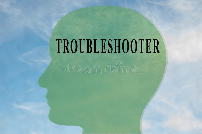 TROUBLESHOOTER - personlighetsbegrepp royaltyfri illustrationer