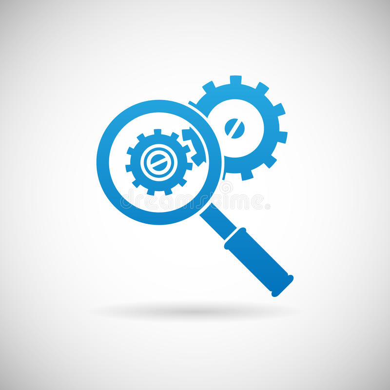 Free Troubleshooting Symbol Magnifying Glass Royalty Free Stock Photo - 40286445