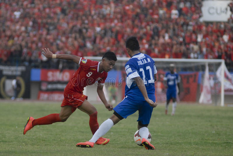 TROUBLESOME INDONESIAN SOCCER WORLD royalty free stock photos