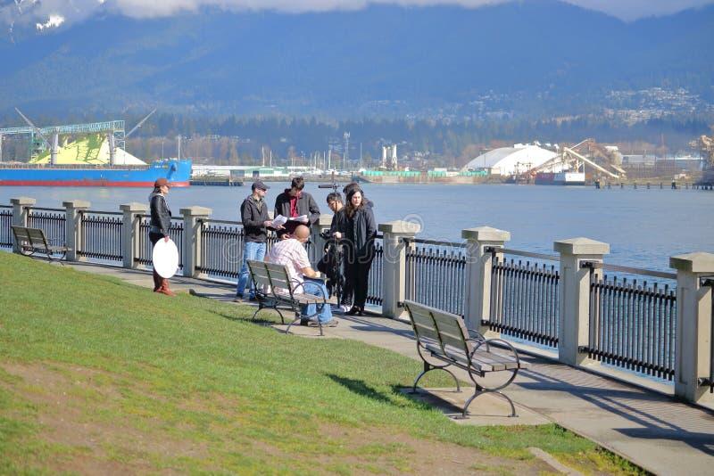 Troupe cinematografica di piccola Vancouver, Canada fotografie stock libere da diritti