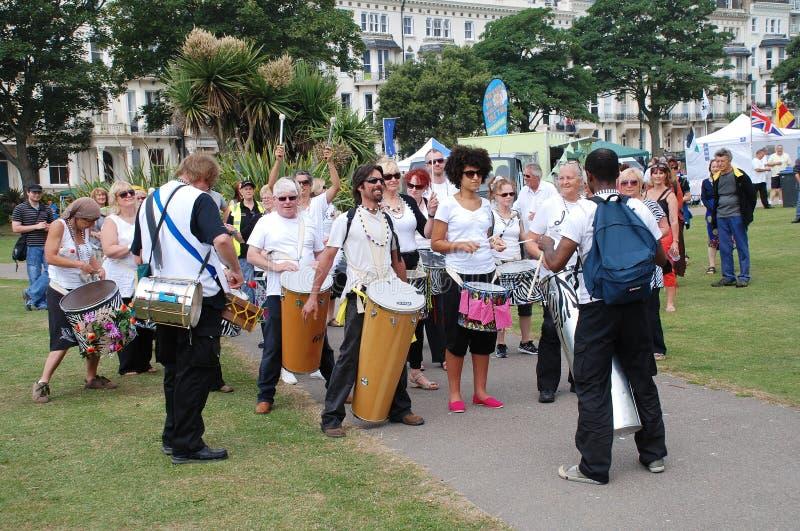 Troupe de tambour de samba de nation de Dende image stock
