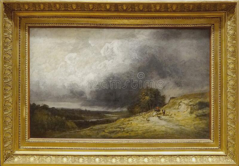 ' Troupeau l' sous; orage' , Georges Michel, 1796 fotos de archivo libres de regalías