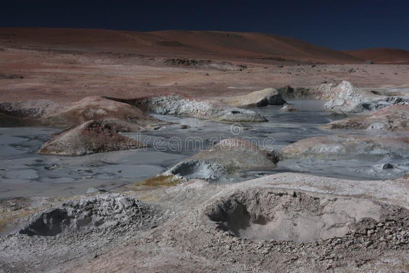 Trous chauds dans Sol de Manana image libre de droits