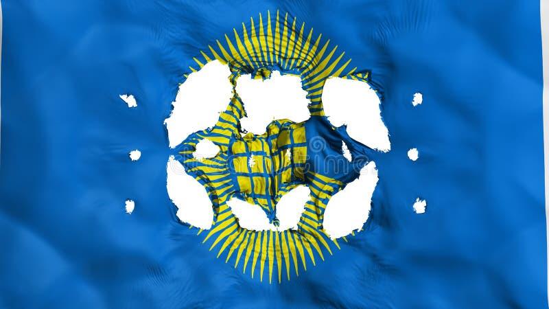 Trous dans le Commonwealth du drapeau de nations illustration stock