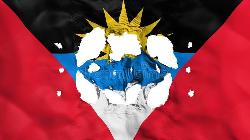 Trous dans le drapeau de l'Antigua-et-Barbuda illustration de vecteur