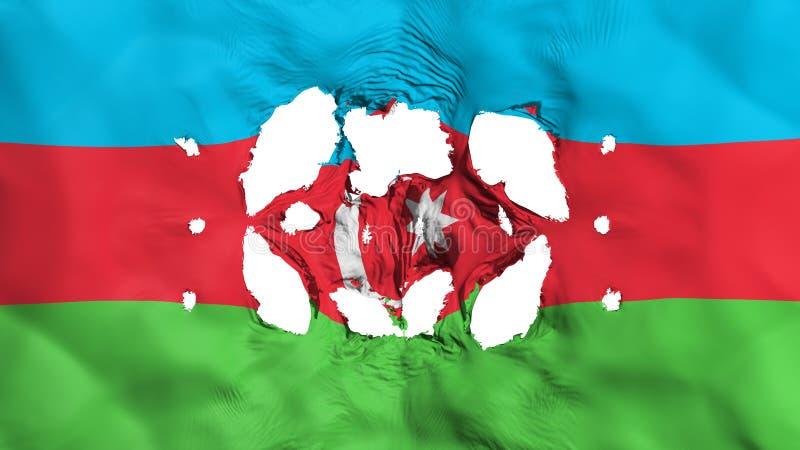 Trous dans le drapeau de l'Azerbaïdjan illustration de vecteur