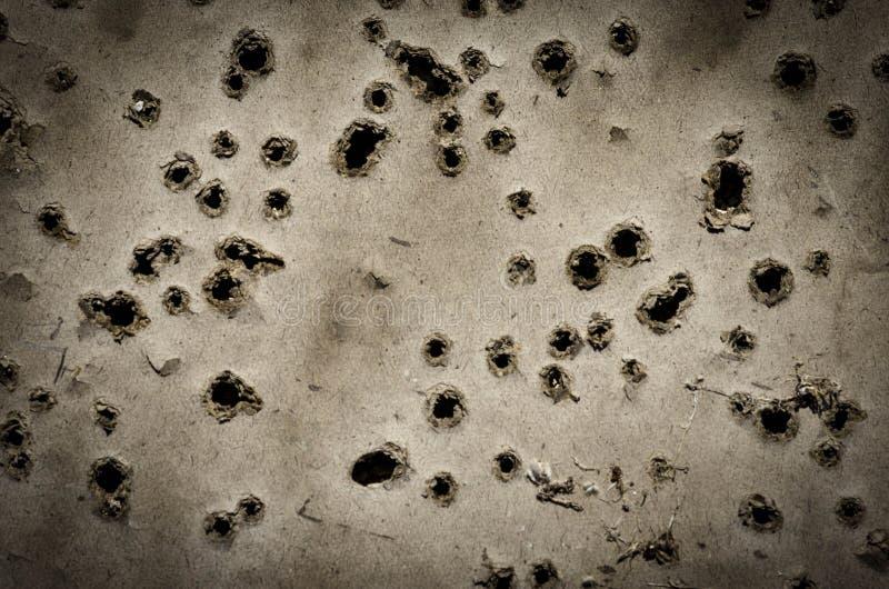 Trous de balle images libres de droits