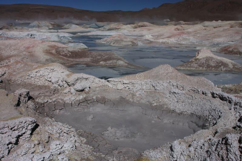 Trous de lave dans Sol de Manana photos stock