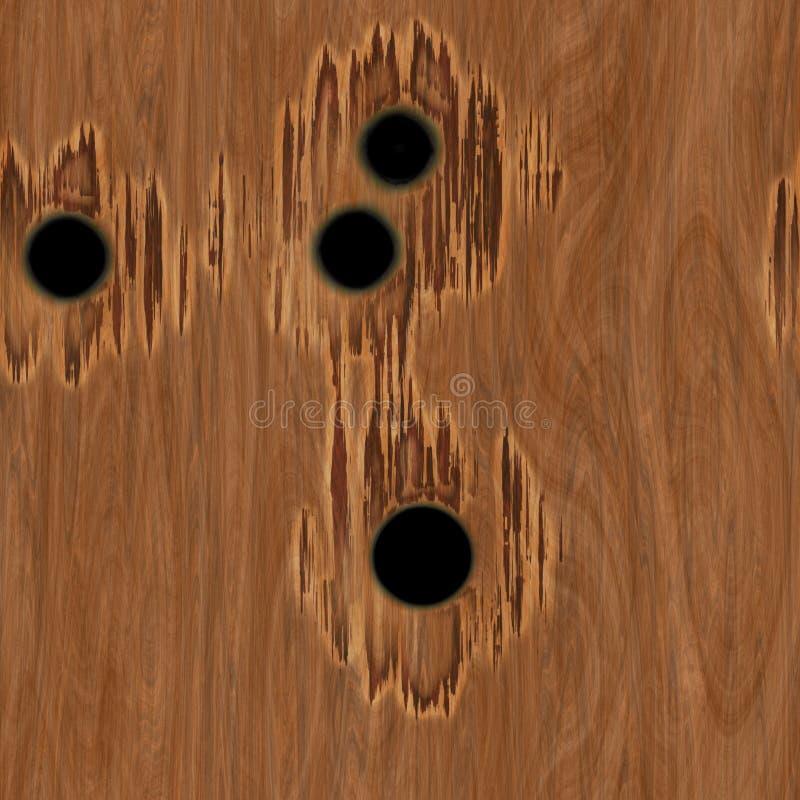 Trous de remboursement in fine en bois image stock