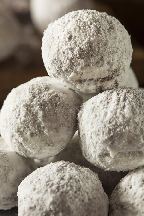 Trous sucrés faits maison de beignet photo stock
