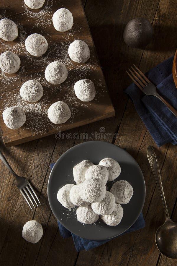 Trous sucrés faits maison de beignet images stock