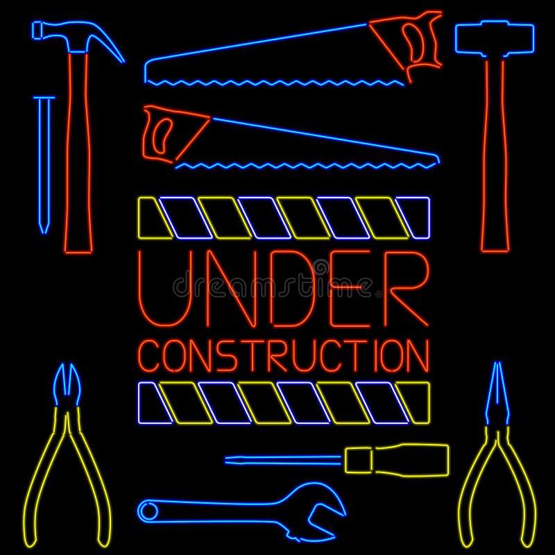 Trousse d'outils au néon illustration libre de droits