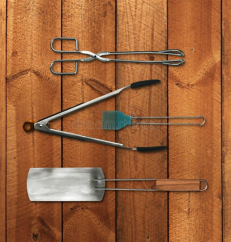 Trousse d'outils de barbecue photographie stock
