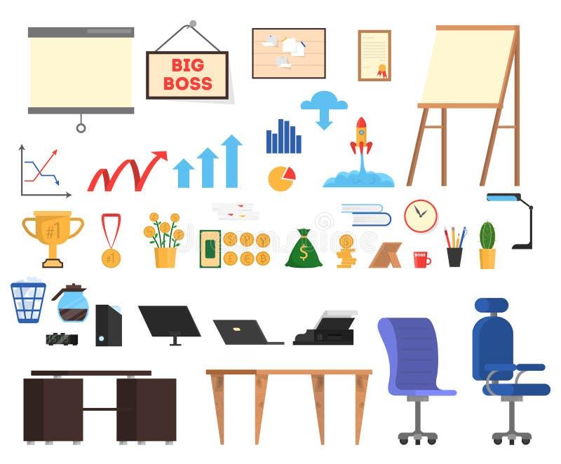 Trousse d'outils de bureau E illustration stock